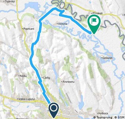 Traseul de bicicletă Ionel Teodoreanu - La Medeleni Iași